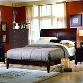 Homelegance Bourgeois Contemporary Panel Bed in Cherry Finish