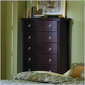 Homelegance Syracuse 6 Drawer Chest in Merlot Finish