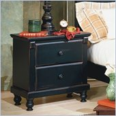 Homelegance Pottery Black Nightstand