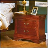 Homelegance Dijon Cherry 2 Drawer Nightstand