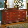 ADD TO YOUR SET: Homelegance Dijon Cherry 8 Drawer Dresser