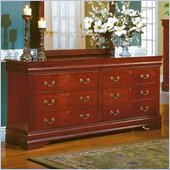 Homelegance Dijon Cherry 8 Drawer Dresser