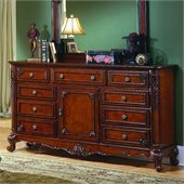 Homelegance Madaleine Triple Dresser in Antique Cherry