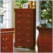 ADD TO YOUR SET: Homelegance Dijon 5 Drawer Chest in Martini Cherry Finish