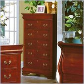 Homelegance Dijon 5 Drawer Chest in Martini Cherry Finish