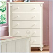 Homelegance Pottery 5 Drawer Chest in White Finish