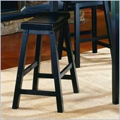 Homelegance Saddleback 29 Seat Height Bar Stool in Black (Set of 2)