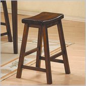 Homelegance Saddleback 29 Seat Height Bar Stool in Warm Cherry finish (Set of 2)