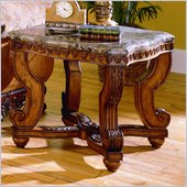 Homelegance Tarantula End Table with Marble Top
