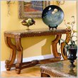 ADD TO YOUR SET: Homelegance Tarantula Sofa Table with Marble Top