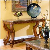 Homelegance Tarantula Sofa Table with Marble Top