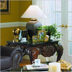Homelegance Gladstone Square End Table with Marble Top