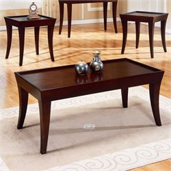 Trent Home Zen 3 Piece Occasional Table Set in Espresso