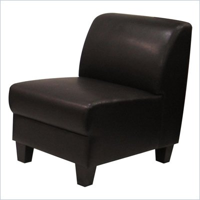 Homelegance Allen Faux Leather Armless Chair in Dark Brown
