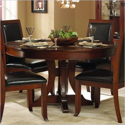 Homelegance Avalon 54&quot; Round Pedestal Dining Table in Cherry