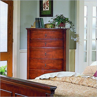 Homelegance Avalon 5 Drawer Chest in Cherry Finish