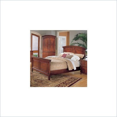 Homelegance Avalon Solid Hardwood Panel Bed in Cherry Finish