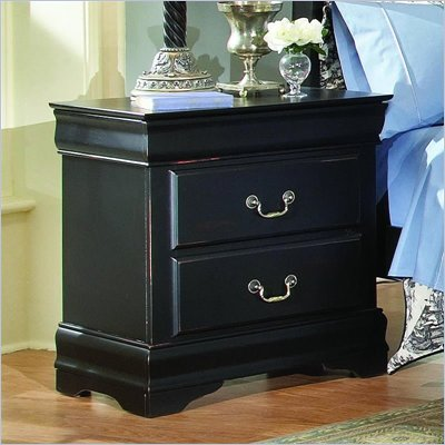 Homelegance Bastille Black 2 Drawer Nightstand