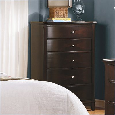 Homelegance Chico Chest in Dark Cherry