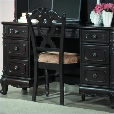 Homelegance Cinderella Writing Desk Chair in Dark Cherry