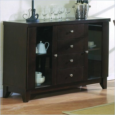 Homelegance Daisy Espresso Side Board