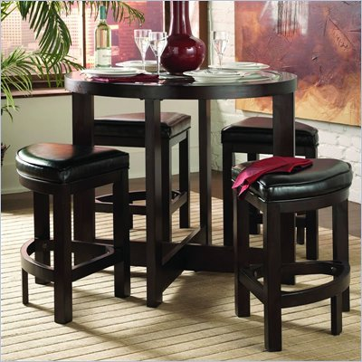 Homelegance Redell 5 PC Counter Height Dinette Set in Cherry