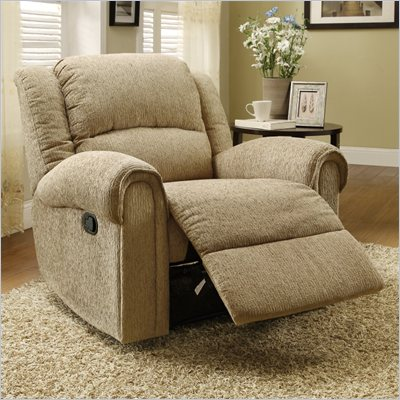 Homelegance Esther Recliner Chair in Beige Chenille
