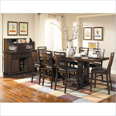 Homelegance Everett Counter Height Dining Table in Cherry