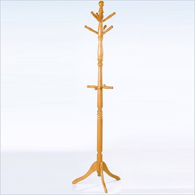 Homelegance Deluxe Oak Standing Coat Rack with Umbrella Rack