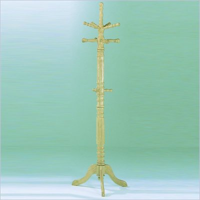 Homelegance Super Deluxe Natural Standing Coat Rack with Umbrella Rack
