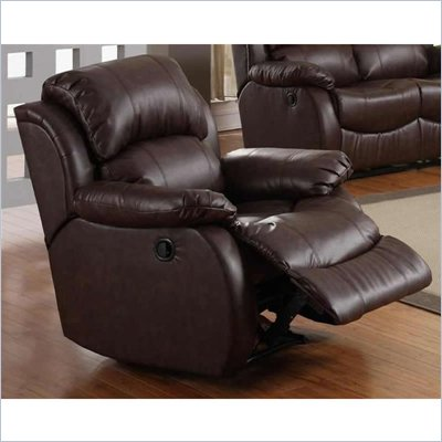 Homelegance McGraw Rocker Recliner Chair in Rich Dark Chocolate