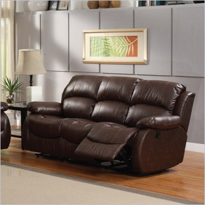 Homelegance McGraw Motion Sofa&#160;in Rich Dark Chocolate