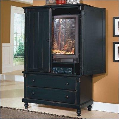 Homelegance Pottery Black TV Armoire