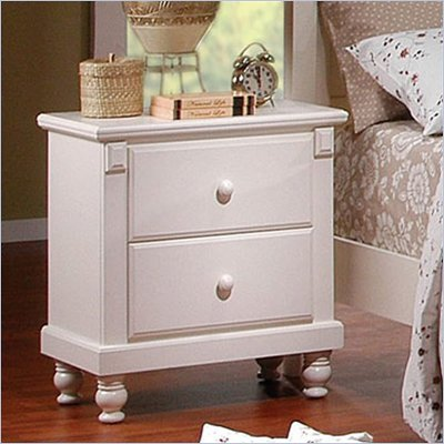 Homelegance Pottery White Nightstand