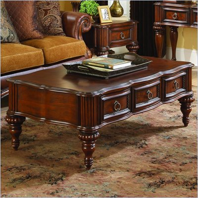 Homelegance Prenzo Rectangular Cocktail Table in Warm Brown Finish