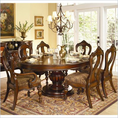 Homelegance Prenzo 7 Piece Dining Table Set in Warm Brown