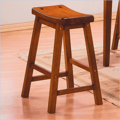 Homelegance Saddleback 29&quot; Bar Stool in Oak (Set of 2)