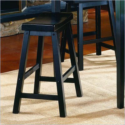 Homelegance Saddleback 29&quot; Seat Height Bar Stool in Black (Set of 2)