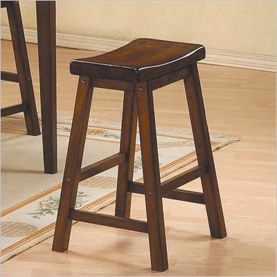 Homelegance Saddleback 29&quot; Seat Height Bar Stool in Warm Cherry finish (Set of 2)