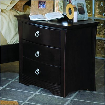 Homelegance Syracuse Nightstand in Merlot