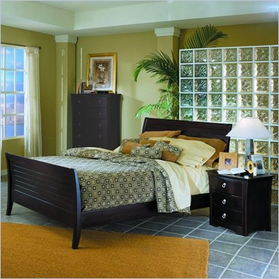 Homelegance Syracuse Sleigh Bed 2 Piece Bedroom Set