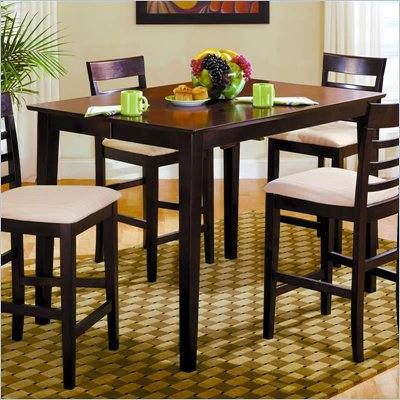 Homelegance Townhouse Merlot Pub Table with Butterfly Leaf