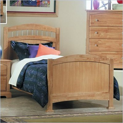 Homelegance Truckee Solid Hardwood Youth Panel Bed in Natural Finish