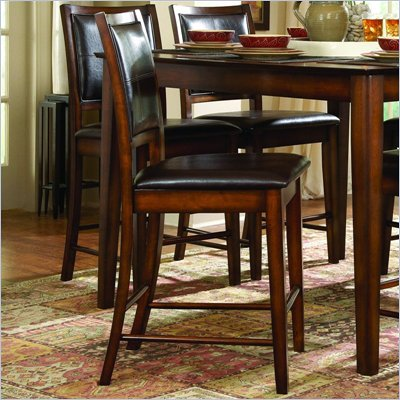 Homelegance Verona Dark Oak Counter Height Chair (Set of 2)