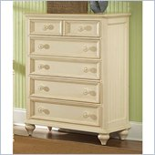 Wynwood Hadley Point 5 Drawer Chest in Antique Parchment Finish