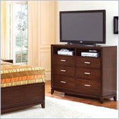 Wynwood Henley 6 Drawer Media Chest in Russet Brown Cherry Finish