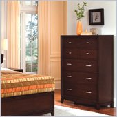 Wynwood Henley 5 Drawer Chest in Russet Brown Cherry Finish