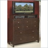 Wynwood Moxi 5 Drawer Media Chest with Deck in Java Finish