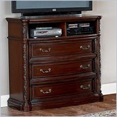 Wynwood Terrassa 3 Drawer Media Chest in Chestnut Cherry Finish