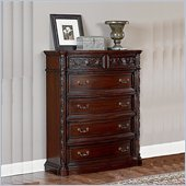 Wynwood Terrassa 5 Drawer Chest in Chestnut Cherry Finish